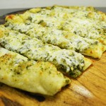 Pesto Asiago Breadsticks