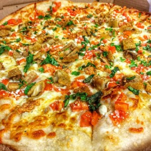 Eggplant Goat Cheese Pizza